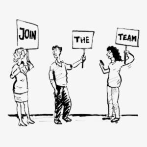 """""""Join the team"""" graphic"""
