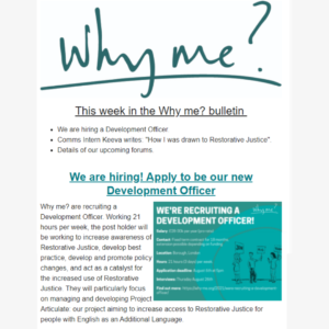 Why me? newsletter